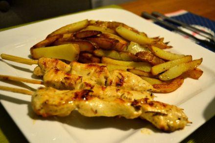 Greek chicken skewers