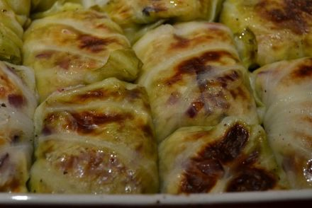 cabbage rolls with chicken and rice