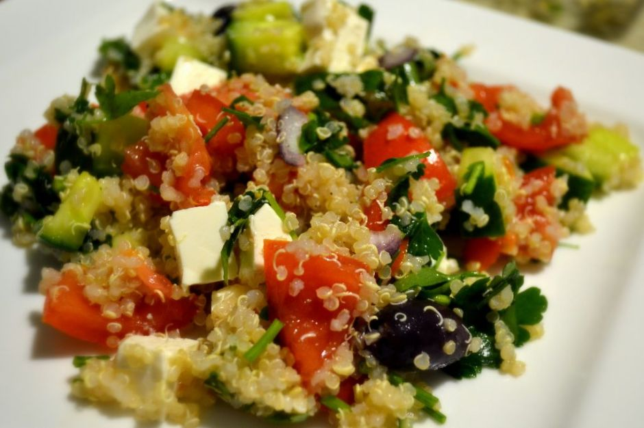 quinoa salad gone greek